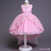 中大尺碼公主裙 無袖 蕾絲花邊拼接洋裝連身裙 花童禮服 演出表演服 DR26470【Rose中大尺碼】