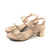 HUMAN PEACE 涼鞋 裸粉色 粗跟 女鞋 65236 no303