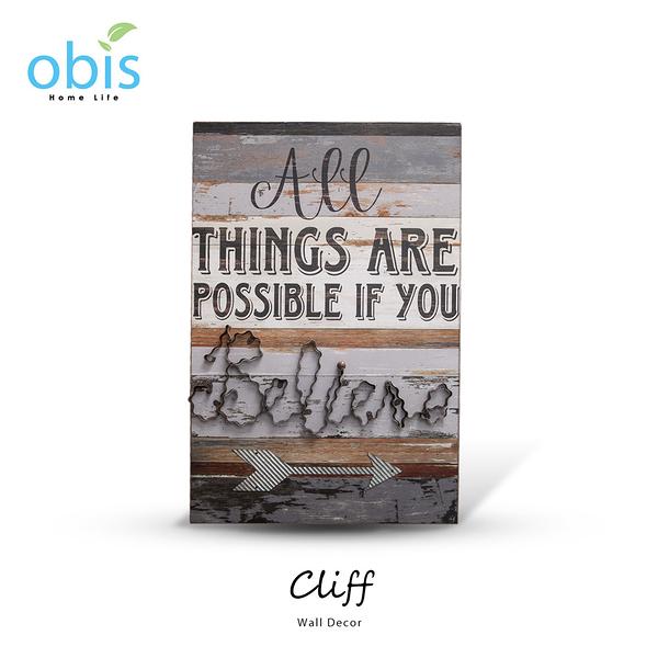 AA012-Cliff信念之路復古風字牌/預購(OBS/15BH058D1N1壁掛)【DD House】