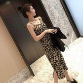 吊帶-連衣裙女裝夏季新款大碼顯瘦豹紋吊帶裙打底裙-奇幻樂園