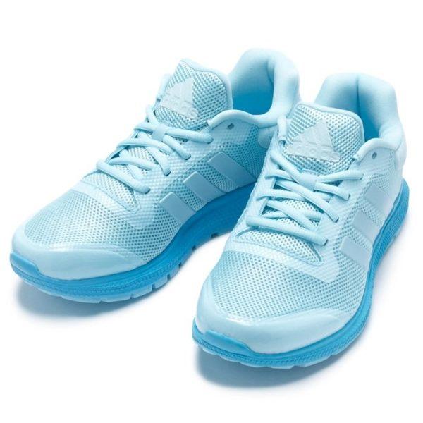 *ADIDAS ENERGY BOUNCE W 水藍 天空藍 彈性 慢跑 網布 透氣 女鞋 S83376