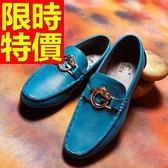 男皮鞋-穿脫方便時尚懶人休閒男樂福鞋3色59p48【巴黎精品】