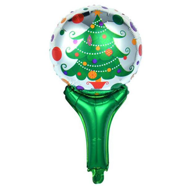 【BlueCat】聖誕節棒棒糖款手持棒鋁膜氣球 佈置