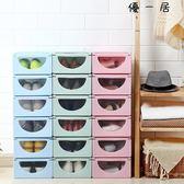 歐式鞋盒抽屜式自由組合加厚翻蓋鞋盒Y-2454