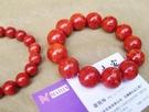 天然紅珊瑚手串佛珠 1.7cm 重68克