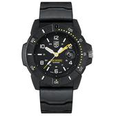 LUMINOX 雷明時NAVY SEAL 3600 海豹部隊腕錶 – 黑黃 / 45mm A3601