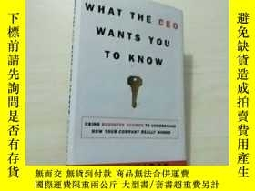 二手書博民逛書店What罕見the CEO wants you to know(