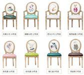 聖誕狂歡 歐式實木復古餐椅美式北歐咖啡廳酒店餐廳椅子做舊扶手美甲靠背椅