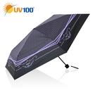 UV100 防曬 抗UV-晴雨三折傘-氣質小女人