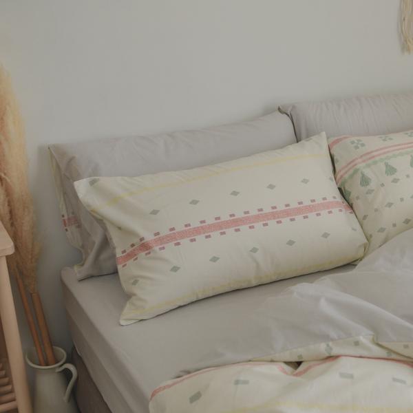純棉 床包被套組(鋪棉被套) 雙人【遊牧】ikea風 100%精梳棉 翔仔居家