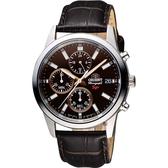 ORIENT東方 SP 尖鋒時刻計時手錶-咖啡/42mm FKU00005T