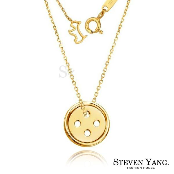 項鍊 西德鋼飾「幸運鈕扣」朴信惠韓劇相似款 金色款 現貨+預購