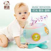 嬰兒玩具拍拍鼓 電動音樂燈光旋轉益智 BQ3『夢幻家居』TW