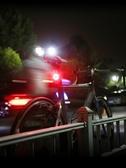 自行車尾燈夜間後警示燈USB充電山地車高亮爆閃光燈騎行裝備配件ATF 美好生活