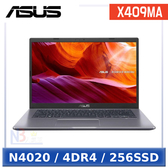 【99成新品】ASUS X409MA-0091GN4020 14吋 筆電 (N4020/4DR4/256SSD/W10H)