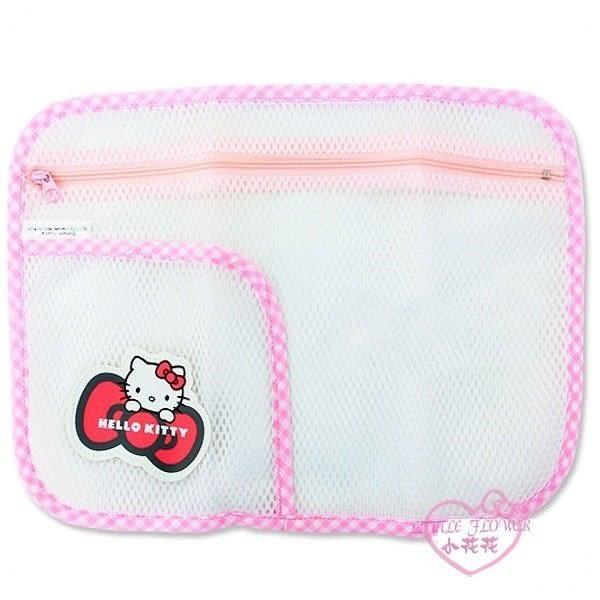 ♥小花花日本精品♥Hello Kitty 雙層小物網袋 收納袋 洗衣袋 旅行袋 網狀(L) 12025909