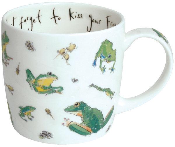 英國骨瓷馬克杯 -  蛙(Dont Forget Kiss Your Froggy)