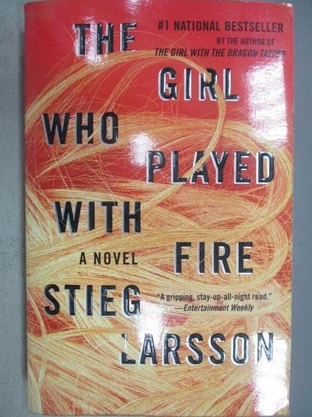 【書寶二手書T2/原文小說_CMU】The Girl who Played with Fire Stieg Larsso