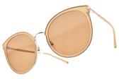 CARIN 太陽眼鏡 VICTORIA C3 (象牙-金-棕鏡片) 韓星秀智代言 韓系百搭貓眼款 # 金橘眼鏡