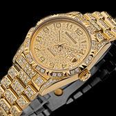 【台南 時代鐘錶 勞斯丹頓】ROSDENTON 完美榮耀 晶鑽腕錶 97626 MGD-A6 金 33mm