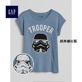 Gap女童 星球大戰系列亮片圖案短袖T恤 336152-經典襯衫藍