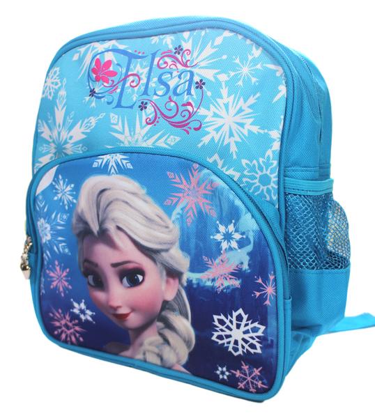 【卡漫城】 艾莎 後背包 藍 27CM 雙層 庫1 ㊣版 冰雪奇緣 外出包 背包 小書包 旅行包 Frozen Elsa