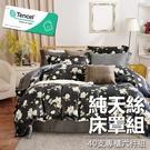#YN57#奧地利100%TENCEL涼感40支純天絲7尺雙人特大舖棉床罩兩用被套六件組(限宅配)專櫃等級