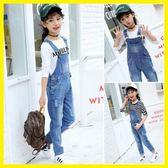雙12狂歡購 女童牛仔吊帶褲中大童小女孩套裝兒童洋氣長褲潮