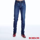 BOBSON 男款低腰異素材直筒褲(1814-53)
