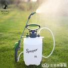澆花噴壺5L手動氣壓式農用噴霧器高壓噴壺園藝農藥灑水噴水壺洗車 生活樂事館
