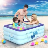 兒童超大號水上樂園嬰兒游泳池家用寶寶充氣泳池家庭游泳桶玩具igo   電購3C