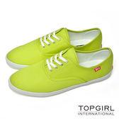 TOP GIRL 繽紛糖果甜心帆布鞋-女(蘋果綠)