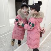 童裝女童冬裝中長款加厚羽絨棉服棉襖外套—交換禮物