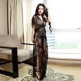 透視禮服 洋裝 加肥加大碼200斤性感睡衣 蕾絲走光長睡裙夜店偽娘私房變裝誘惑潮
