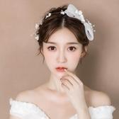 限定款新品(免運)新娘造型頭飾韓式髮箍飾品小清新蝴蝶結配飾婚紗禮服結婚髮飾