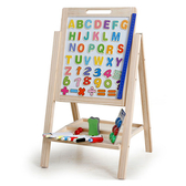 可調整高度兒童雙面木製畫板(兒童畫板)