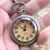 復古茶色大錶盤清晰大數字老人懷錶翻蓋學生電子錶考試用實用掛錶全館滿千88折