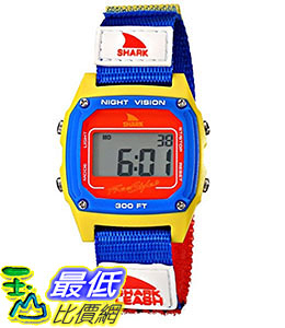 [106美國直購] Freestyle 手錶 Unisex 102243 B00BK28F3G Shark Fast Strap Retro 80 s Digital Blue and Yellow