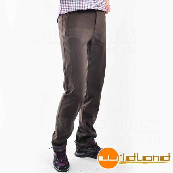Wildland荒野 0A22315-63深卡其 女彈性輕三層防風防長褲