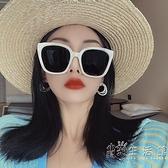 2020新款韓國jennie同款白色偏光墨鏡女網紅眼鏡大臉顯臉小太陽鏡 小時光生活館