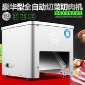 切肉機 切絲切片機全自動不銹鋼家用電動絞肉丁肉片切菜機(220V)  汪喵百貨