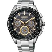 廣告款 CITIZEN 星辰 光動能鈦GPS衛星對時錶-黑x銀/43mm CC9015-54F