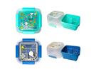 【史奴比】瀝水籃 保鮮盒 綠色/藍色 大 1500ml