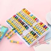 蠟筆 兒童蠟筆無毒安全可水洗園油畫棒12色24色36色48色涂色筆彩筆【快速出貨】