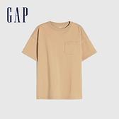 Gap男童 純棉基本款圓領短袖T恤 785201-駝色