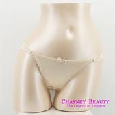 Chasney Beauty-緞面S-M鑲鑽丁褲(嫩肤白)+贈臀腰褲帶