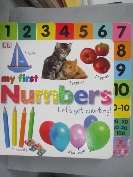 【書寶二手書T2/少年童書_PJM】My First Numbers: Let's Get Counting!_Sirett, Dawn