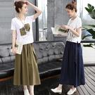棉麻兩件套 2021夏裝新款時髦顯瘦棉麻連衣裙女裝春夏亞麻套裝裙兩件套長裙子