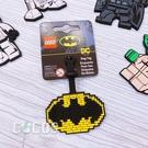 LEGO樂高 DC超級英雄 蝙蝠俠 蝙蝠俠標誌 人偶造型行李吊牌 掛飾吊飾 COCOS LG287