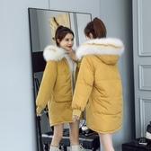 長款外套女 棉服女中長款小個子羽絨棉衣寬鬆韓版中款面包服外套學生冬季